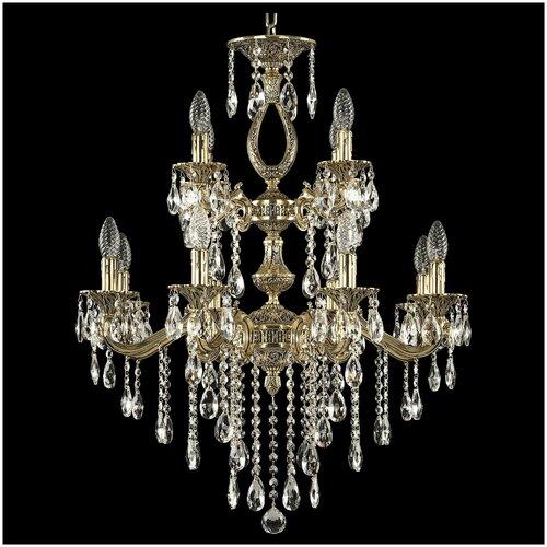 Люстра Bohemia Ivele Crystal 72302/8+4/210/2d B GB, E14, 480 Вт, кол-во ламп: 12 шт., цвет арматуры: золотой люстра bohemia ivele crystal 1716 8 8 4 265b gb