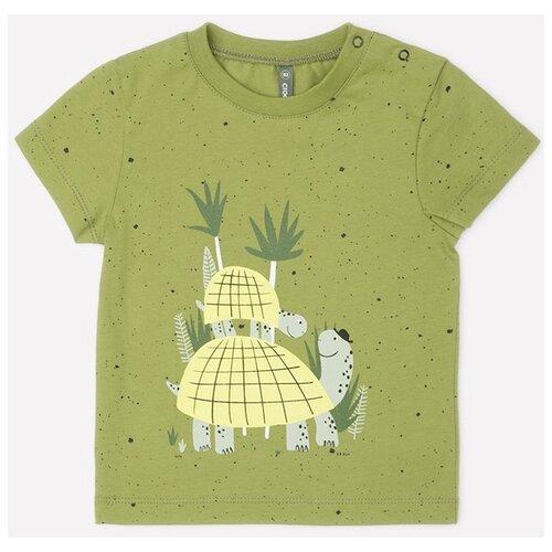 Купить Футболка crockid, размер 68, зеленый, крапинка к274, Футболки и рубашки