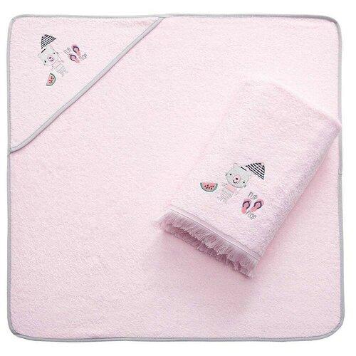 Arya Набор полотенец Summer банное розовый arya набор полотенец bahar b птицы кухонное 40х60 см экрю розовый