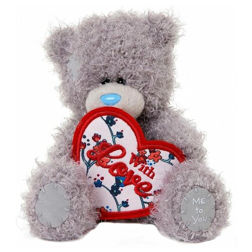 Мягкая игрушка Me to you Мишка Тедди с сердцем With love 13 см
