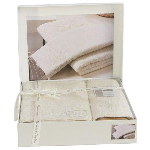 KARNA Комплект полотенец Elinda кремовый недорого