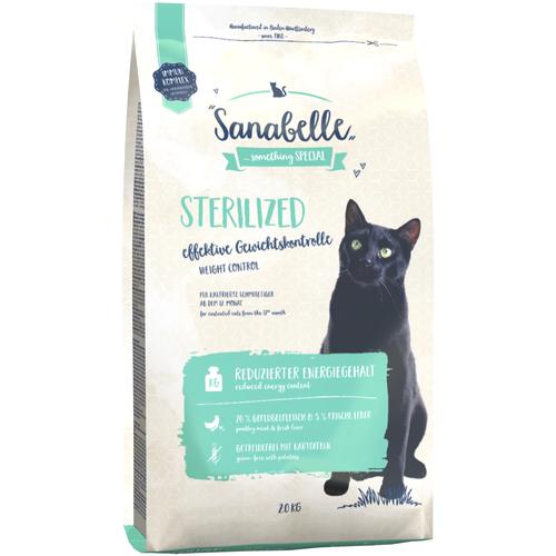 Фото - Сухой корм для стерилизованных кошек Sanabelle Sanabelle Sterilized Weight Control 2 кг sanabelle sanabelle snack полувлажное лакомство для кошек для улучшения пищеварения с сайдой и инжиром 55 г