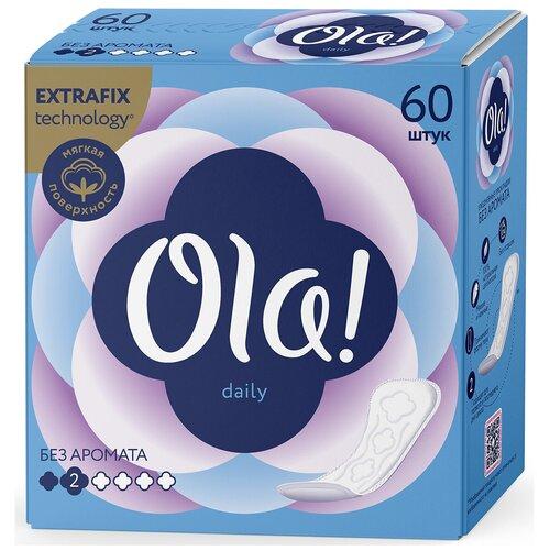 Фото - Ola! прокладки ежедневные Daily Без аромата, 2 капли, 60 шт. ola прокладки ежедневные daily без аромата 2 капли 60 шт 2 уп