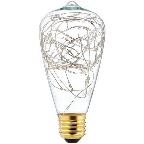Лампа светодиодная REV Vintage RGB 32447 8, E27, ST64, 2Вт