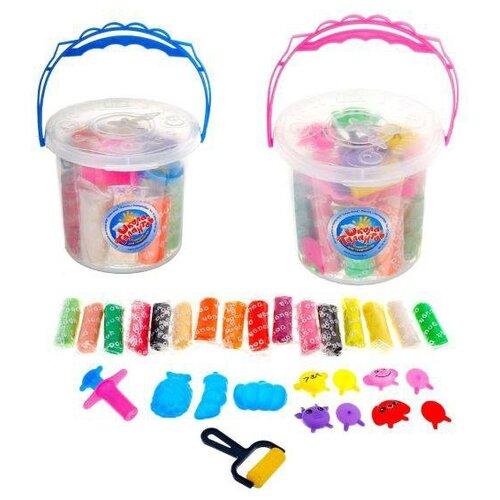 Купить Тесто для лепки Школа талантов 16 цветов по 23 гр, 14 предметов (511392), Пластилин и масса для лепки