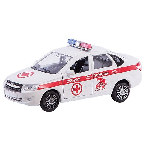 Купить Легковой автомобиль Autogrand Lada Granta скорая помощь (33955) 1:36, белый/красный, Машинки и техника