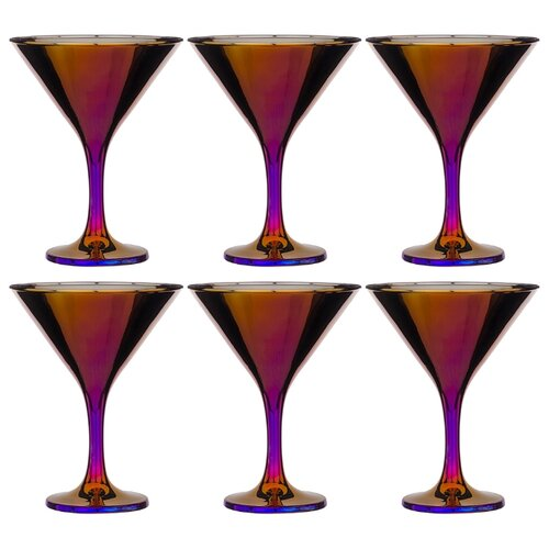 Набор 6 бокалов для мартини 190 мл королевская фуксия Lefard (194-393)