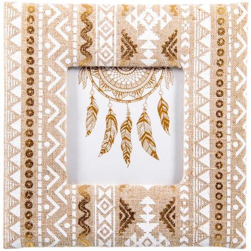 Фоторамка Русские подарки 81322 10х10 см белый/золотистый инструмент многофункциональный русские подарки в чехле 11 см