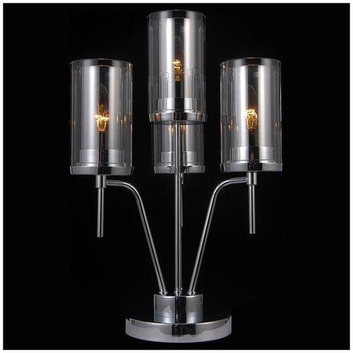 Фото - Настольная лампа Natali Kovaltseva HELSINKI II 79012-3T CHROME, 160 Вт настольная лампа favourite cremlin 1274 3t