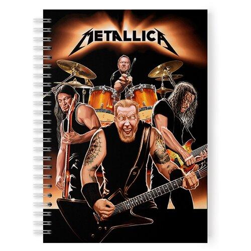 Купить Тетрадь 48 листов в клетку с рисунком Metallica четверка, Drabs, Тетради