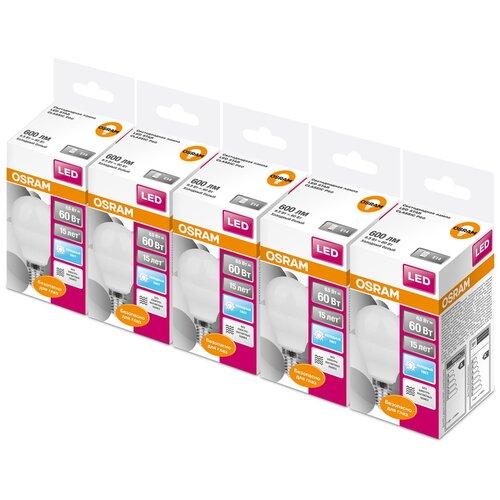 Фото - Упаковка светодиодных ламп 5 шт OSRAM Led Star Classic P 60 840, E14, G45, 6.5Вт упаковка светодиодных ламп 5 шт osram led star classic b 75 830 e27 8вт