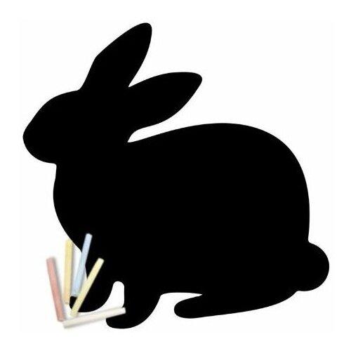 Магнитная меловая доска Doski4you Зайчик для рисования на холодильник + мел / детская грифельная черная