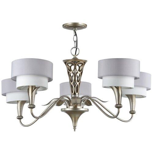 Люстра MAYTONI Lillian H311-05-G, E14, 200 Вт, кол-во ламп: 5 шт., цвет арматуры: серебристый, цвет плафона: серый