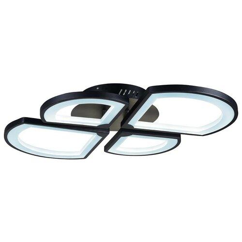Люстра светодиодная iLedex River X024-4 BK, 48 Вт, цвет арматуры: черный, цвет плафона: белый люстра светодиодная iledex clover 6885 4 bk 48 вт