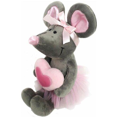 Мягкая игрушка Softoy Мышь с розовым сердечком 26 см softoy ut 1301 игрушка мягкая бык 45 см