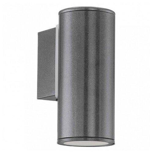 Eglo Светильник настенный Riga 94102, GU10, 3 Вт, цвет арматуры: серый уличный настенный светильник eglo 94102