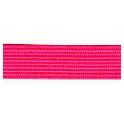Купить Резинка продежка, 6, 6 мм, цвет неоновый розовый 64% полиэстр, 36% латекс, PEGA, Технические ленты и тесьма