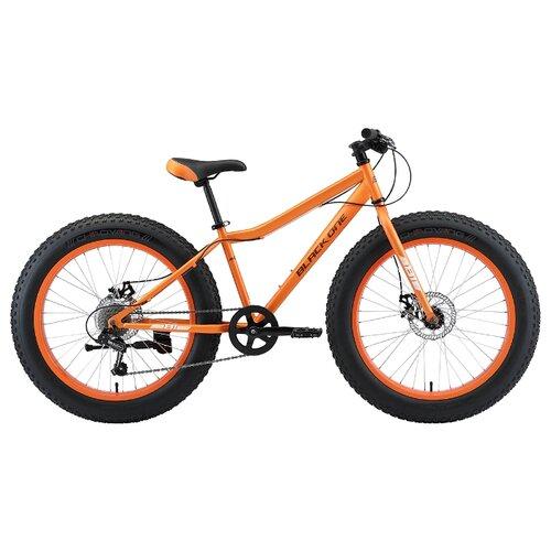 Подростковый фэт-байк Black One Monster 24 D (2021) оранжевый/серый (требует финальной сборки)