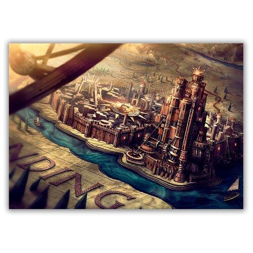Магнит на холодильник большой - A4, Карта из заставки от фильма Игра Престолов