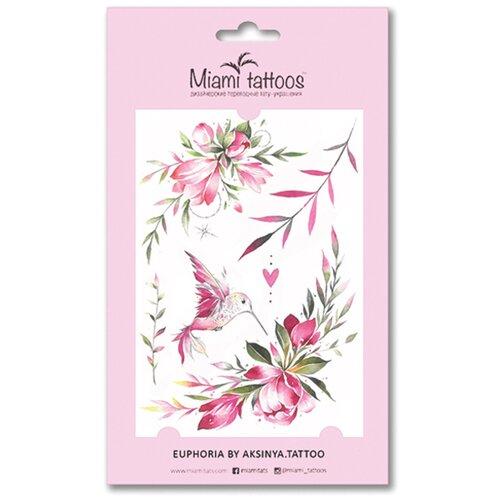 Miami tattoos Переводные тату Euphoria розовый