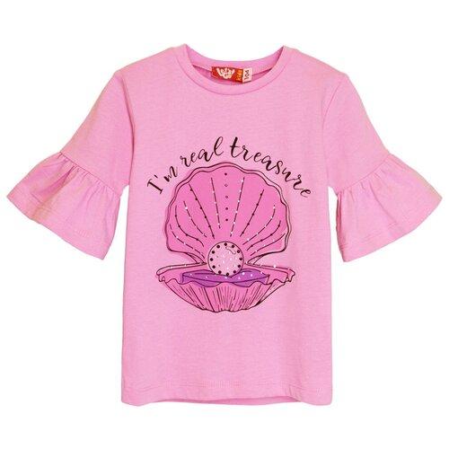 Купить 51174 Футболка для девочки светло-розовый, размер 104-56, Let's Go, Футболки и майки