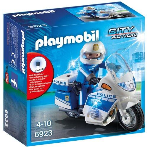 Конструктор Playmobil City Action 6923 Полицейский мотоцикл недорого