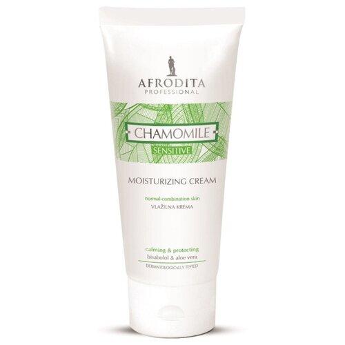 Крем для чувствительной кожи лица увлажняющий с ромашкой CHAMOMILE SENSITIVE professional, Afrodita Cosmetics, Словения, 200мл