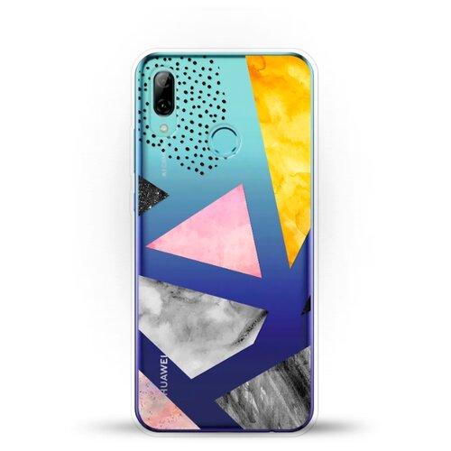 Силиконовый чехол Мраморные треугольники на Huawei P Smart (2019)