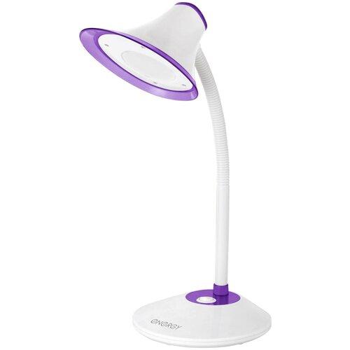 настольная лампа светодиодная energy en led20 1 бело зеленый 5 вт Настольная лампа светодиодная Energy EN-LED20-2 бело-фиолетовая, 5 Вт