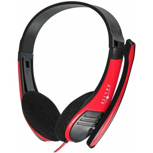 Компьютерная гарнитура OKLICK HS-M150 красный/черный
