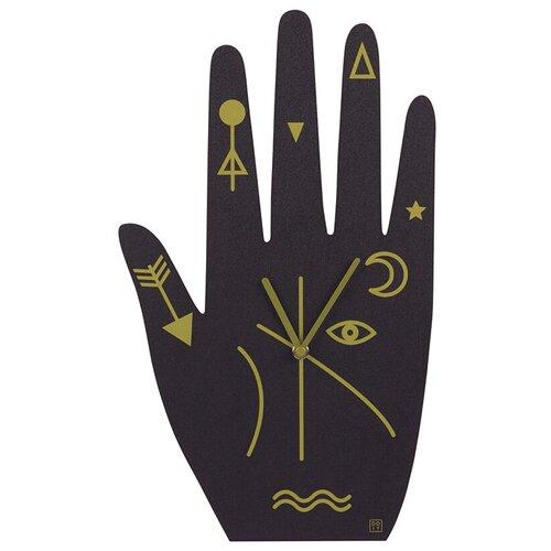 Часы настенные кварцевые Doiy Mystic time hand черный/золотистый по цене 3 120