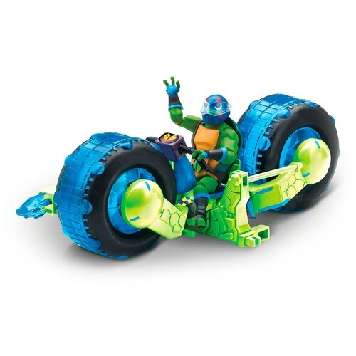 Фигурка Playmates TOYS ROTMNT Мотоцикл с фигуркой Лео 82481