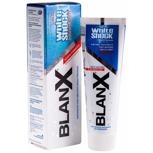 Фото - Зубная паста BlanX White Shock Instant White, быстрое отбеливание, 75 мл зубная паста blanx white shock power white treatment 50 мл led bite моментальное отбеливание