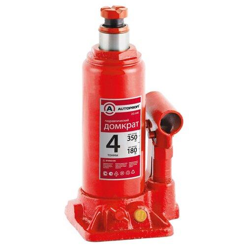 Фото - Домкрат бутылочный гидравлический AUTOPROFI DG-04K (4 т) красный аксессуары для автомобиля autoprofi домкрат бутылочный гидравлический 2 тонны dg 02k