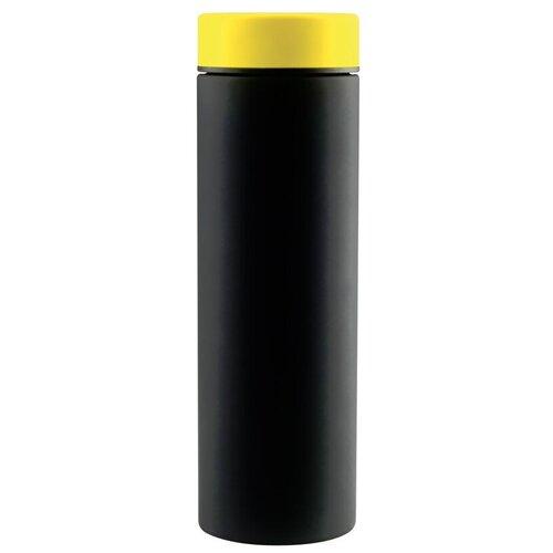 Классический термос Asobu Le baton travel, 0.5 л черный/желтый