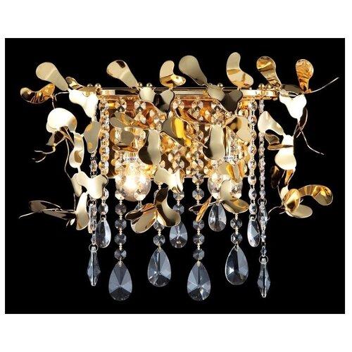 Настенный светильник Crystal Lux Romeo AP2 Gold, 120 Вт настенный светильник crystal lux alegria ap2 silver brown 120 вт