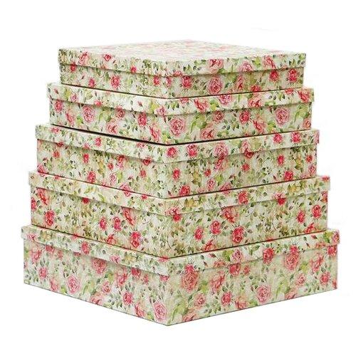 набор подарочных коробок ип выгодский денис владимирович микс 3 шт разноцветный Набор подарочных коробок Мишель Фокс Шиповник №14, 5 шт. разноцветный