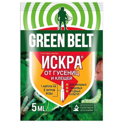 тотальная защита от вредителей искра м от гусениц ампула 5 мл 1148472 Green Belt Средство для защиты от насекомых Искра М, 5 мл