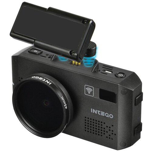 Видеорегистратор с радар-детектором INTEGO VX-1300S, GPS, черный радар детектор intego titanium s