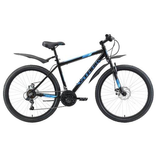 """Горный (MTB) велосипед STARK Outpost 26.2 D (2020) черный/голубой/голубой 18"""" (требует финальной сборки)"""