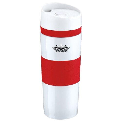 Термокружка Peterhof PH-12418, 0.4 л красный
