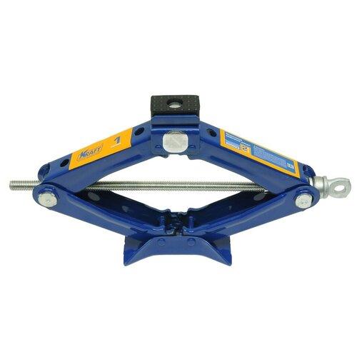 Домкрат винтовой механический KRAFT КТ 800023 (1 т) синий