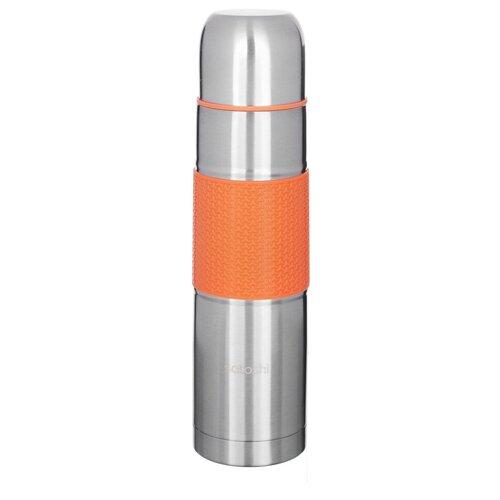 Классический термос Satoshi Kitchenware 841-635, 1 л серебристый/оранжевый