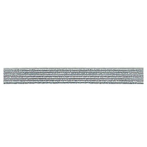 Купить Резинка продежка 6, 5 мм, цвет серебристый люрекс 63% латекс, 37% металлизированное волокно, PEGA, Технические ленты и тесьма