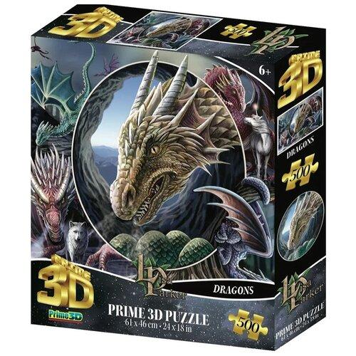 Купить Super 3D Puzzle: Коллаж Драконы (500 элементов), Prime 3D, Пазлы