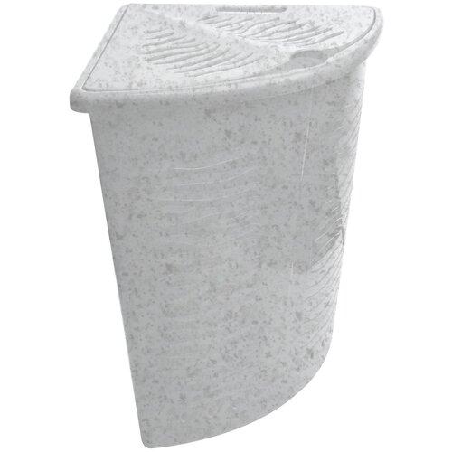 BranQ Корзина для белья Aqua 40 л мраморный