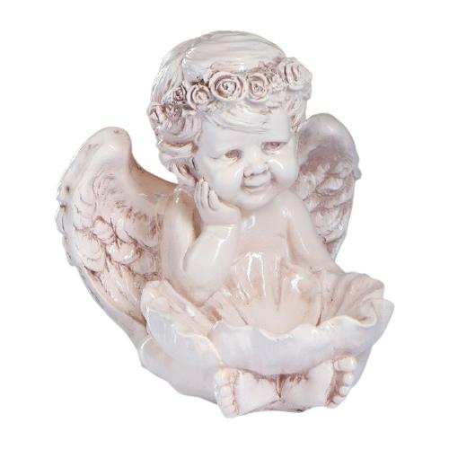 Статуэтка Хорошие сувениры Ангел с кувшинкой 27 см кремовый