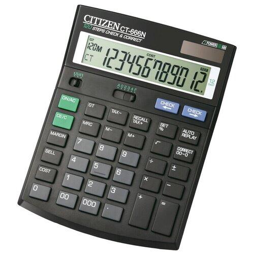 Калькулятор бухгалтерский CITIZEN Citizen CТ-666N черный