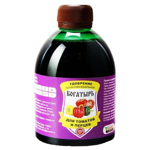 Фото - Удобрение ЛамаТорф Богатырь для томатов и перцев, 0.3 л почвогрунт для томатов перца и баклажанов богатырь 20л