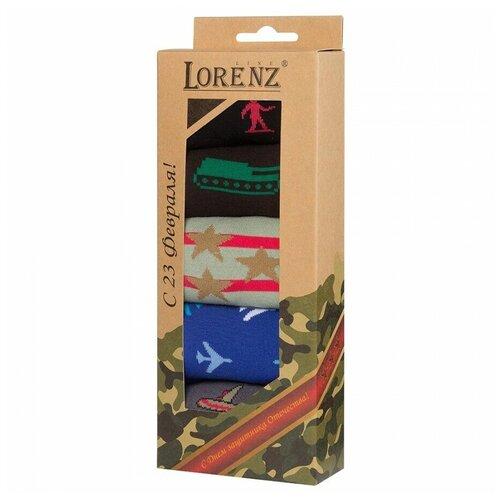 Подарочный набор мужских носков на 23 февраля, 5 пар, Р33, 25
